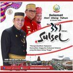 Hari Jadi Sulawesi Selatan Ke 351 Tahun